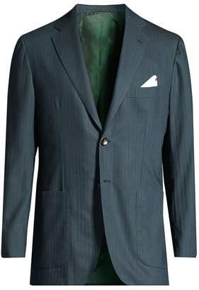 Stripe Cashmere Sport Jacket
