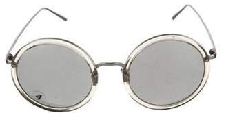 Linda Farrow Tinted Round Sunglasses