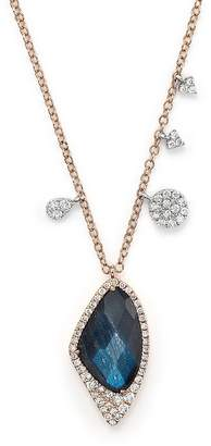 Meira T 14K Gold and Blue Labradorite Necklace, 16""
