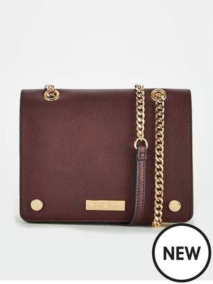 Carvela Rhona Wine Chain Crossbody Bag - Wine