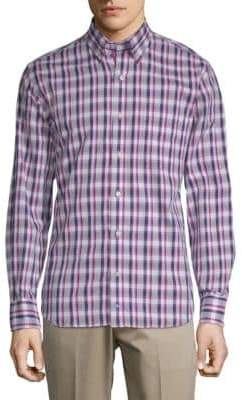 Tailorbyrd Plaid Button-Down Shirt
