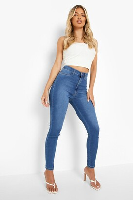 boohoo Super High Waist Power Stretch Skinny Jeans