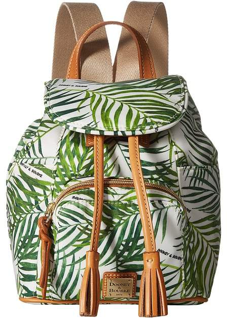 Dooney & Bourke Siesta Small Murphy Backpack Backpack Bags - WHITE/BTRSCTCH TRIM - STYLE