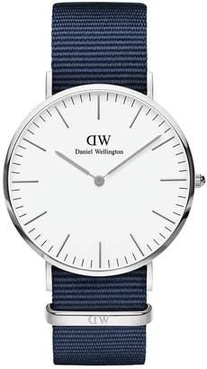 Daniel Wellington Classic Nylon Strap Watch, 40mm