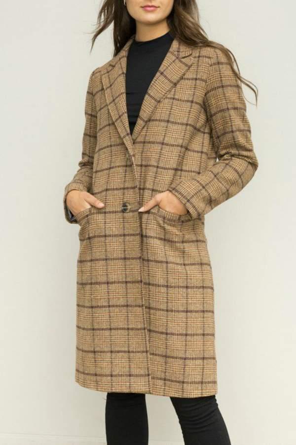 Hem & Thread Oversized plaid coat