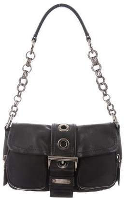 21f634df0263 ... hot pre owned at therealreal prada nappa leather trimmed chain bag  27d4f 9271d