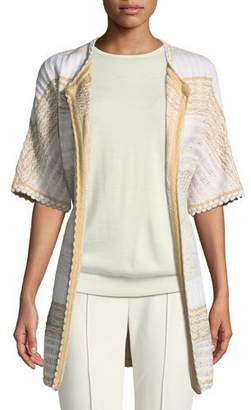 St. John Mixed Floats Striped Knit Jacket