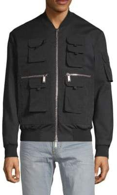 DSQUARED2 Rib-Trimmed Bomber Jacket