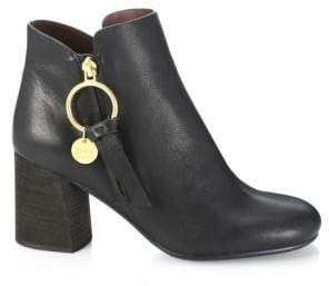 See by Chloe Louise Stacked Heel Booties