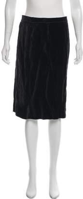 Lanvin Velvet Pencil Skirt
