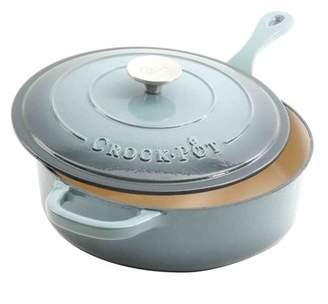 Crock Pot Crock-Pot Artisan Enameled Cast Iron 3.5 Qt Deep Saut? Pan With Self Basting Lid - Slate Grey