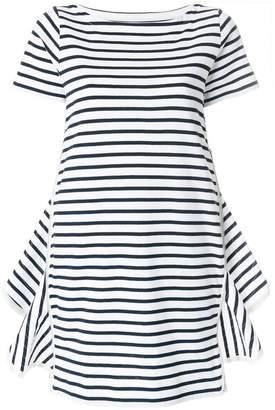 Sacai striped side zip dress