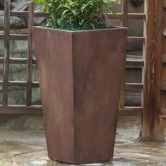 Wrought Studio Cowles Tall Angled Fiber Clay Pot Planter