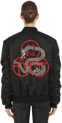 Black Mass Nylon Bomber Jacket