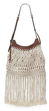 Isabel Marant Women's Teomia Woven Rope Shoulder Bag