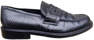Sartore Black Leather Flats