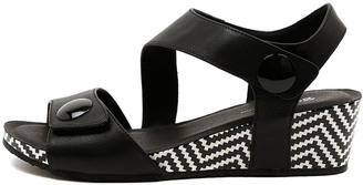 Gamins Lala Black-black Sandals Womens Shoes Casual Heeled Sandals