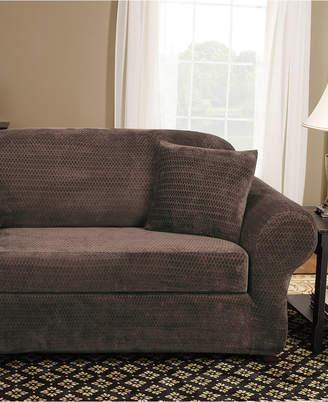 Sure Fit Stretch Royal Diamond 2-Piece Sofa Slipcover