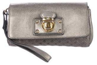 Marc Jacobs Quilted Push-Lock Clutch
