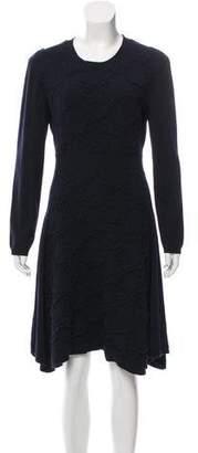 Lela Rose Wool-Blend Midi Dress