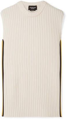 Calvin Klein Striped Wool-blend Tank - Cream