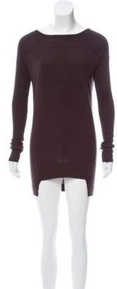 L.A.M.B. Silk-Cashmere Mini Dress