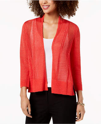 Alfani Novelty Stitch Cardigan
