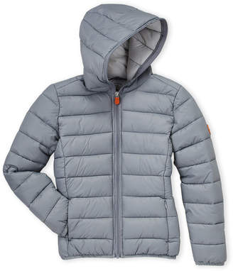 Save The Duck (Boys 8-20) Hooded Gig Puffer Jacket
