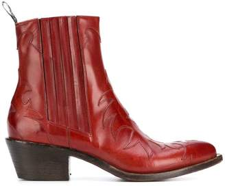 Sartore pointed toe western boots
