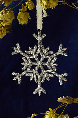 Anthropologie Beaded Snowflake Ornament, Large