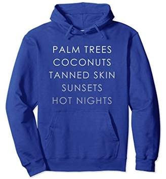 Palm Trees Coconuts Tanned Skin Hoodie