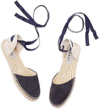 Manebi Hamptons Tie Up Flats Sandal