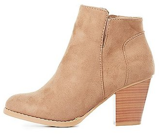 Faux Suede Ankle Booties $35.99 thestylecure.com