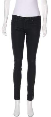 Blank NYC Low-Rise Coated Skinny Jeans w/ Tags