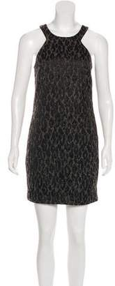 Trina Turk Mock Neck Sleeveless Mini Dress