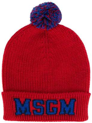 MSGM Teen logo knitted hat