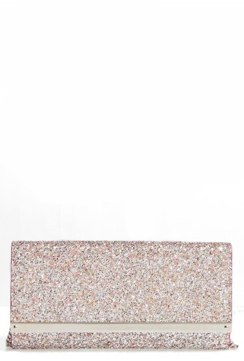 Jimmy Choo Jimmy Choo Milla Speckled Glitter Wallet On A Chain - Pink