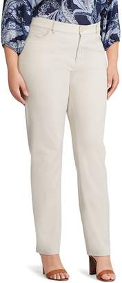 Chaps Plus Size Four-Way Stretch Mid-Rise Pants