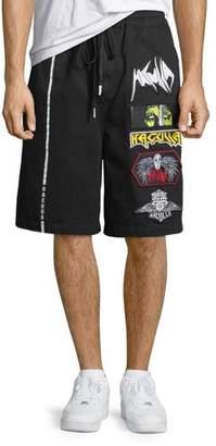 Haculla Men's Patched Cotton Shorts