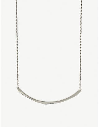Kendra Scott Graham rhodium-plated and cubic zirconia choker necklace
