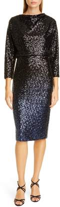 Badgley Mischka Blouson Sequin Cocktail Dress