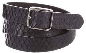 Yigal Azrouel Snakeskin Skinny Belt