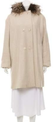 Loro Piana Fox Fur Hooded Cashmere Coat