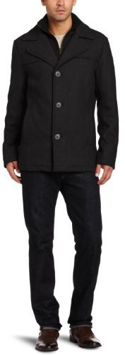 Kenneth Cole Men's Melton Single-Breasted Coat