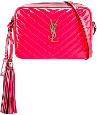 Saint Laurent Medium Monogramme Lou Satchel Bag in Neon Pink | FWRD