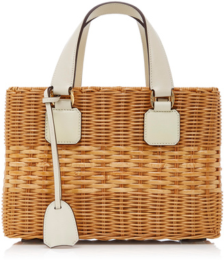 Mark Cross Rattan Small Manray Tote $2,095 thestylecure.com
