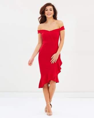 Lipsy Ruffle Bardot Body-Con Dress