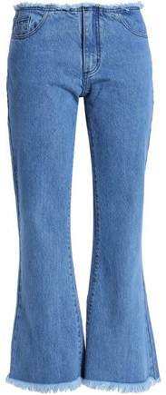 Marques' Almeida Frayed Mid-Rise Kick-Flare Jeans
