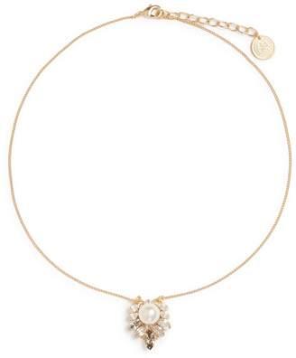 Anton Heunis Swarovski crystal cluster pendant necklace