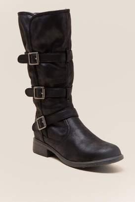 Report Hedda Buckle Low Shaft Boot - Black